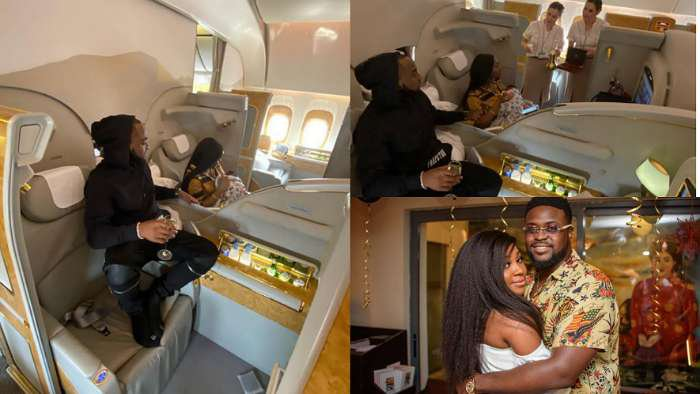 Davido and his fiancee, Chioma fly PJ to Dubai for his brother, Adewale's white wedding
