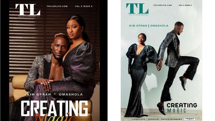 BBNaija stars, Omashola and Kim Oprah array the cover of TaylorLive Magazine