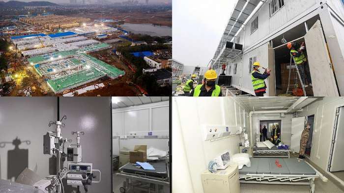Corona Virus: See photos of 1,000 beds emergency hospital built in 8 days in China