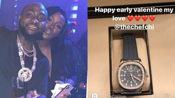 Music star, Davido buys early Valentine gift for his bae, Chioma