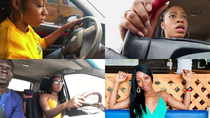 BBNaija star, Khafi kicks off her intensive driving lesson; says learning how to drive in Lagos is not a joke