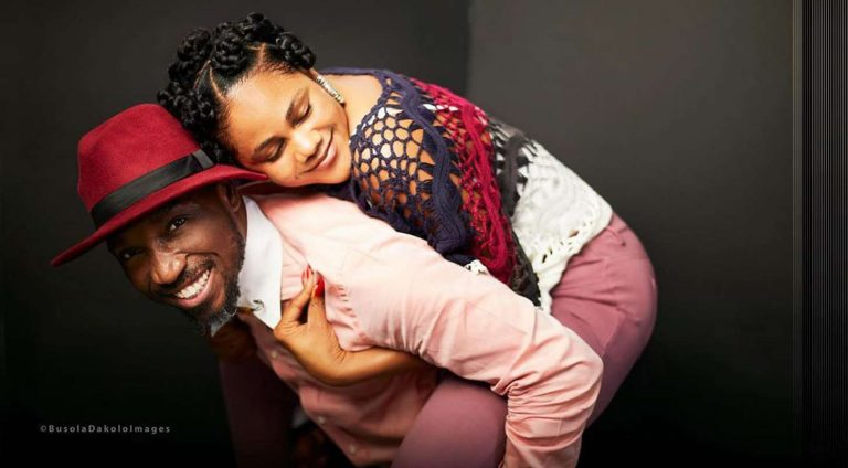 Timi Dakolo and wife, Busola serve their fans a peachy Valentine picture