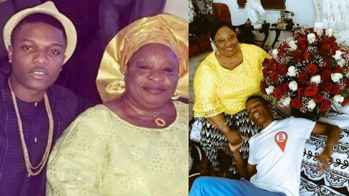 Music star, Wizkid gifts his mum 100 roses for Valentine