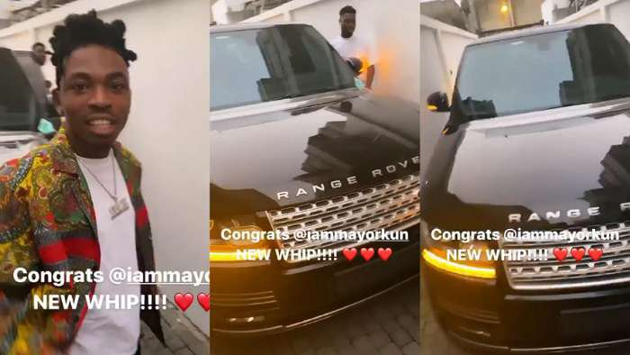 DMW singer, Mayorkun shows off his newly acquired million naira Range Rover SUV