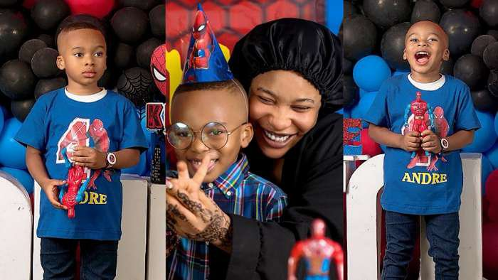 Actress, Tonto Dikeh floods IG with photos in celebration of her son, Andre's 4th birthday