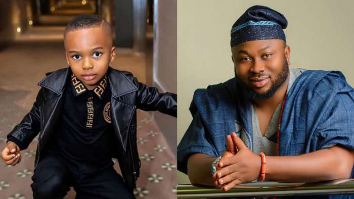 No one can change your name or turn your face away from me, you are my blood – Tonto Dikeh's ex-husband, Churchill writes to his son, Andre