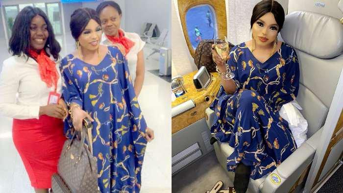 I am Bobrisky the only rich babe, I fly first class – Cross Dresser, Bobrisky brags as he jets to Dubai