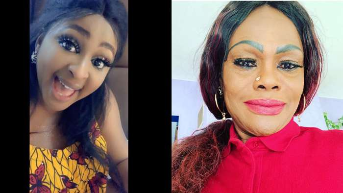 Actress, Etinosa and a woman fight over who is bleaching expert (screenshot)