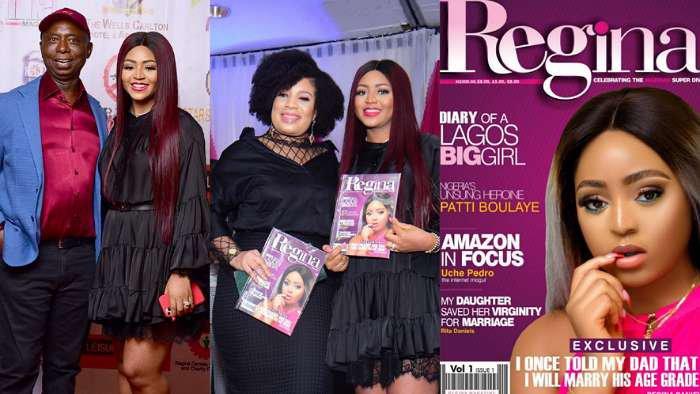 "Actress, Regina Daniels shares photos from her ""Regina Magazine"" launch"