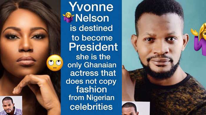 Actress, Yvonne Nelson is destined to be Ghana president – Uche Maduagwu