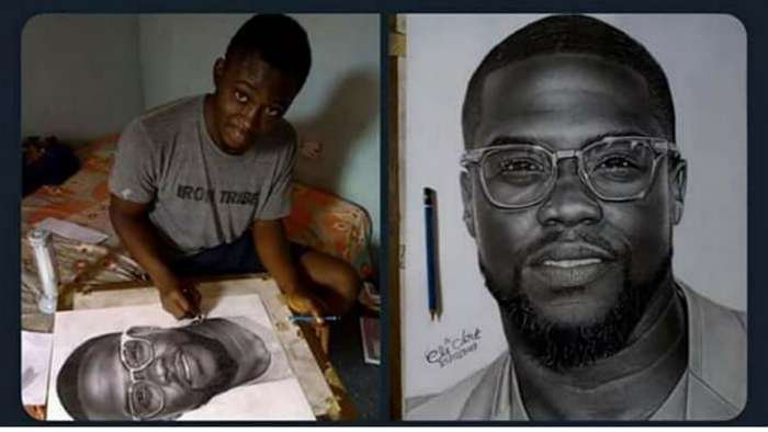 A year later, pencil artist, Eli Waduba remembers how his life was changed by American comedian, Kevin Hart