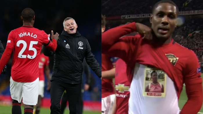 Football star, Ighalo dedicates his first Man United goal to late sister, Mary Ighalo