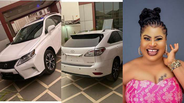Nollywood diva, Gift Mbanaso buys herself Lexus SUV as birthday gift