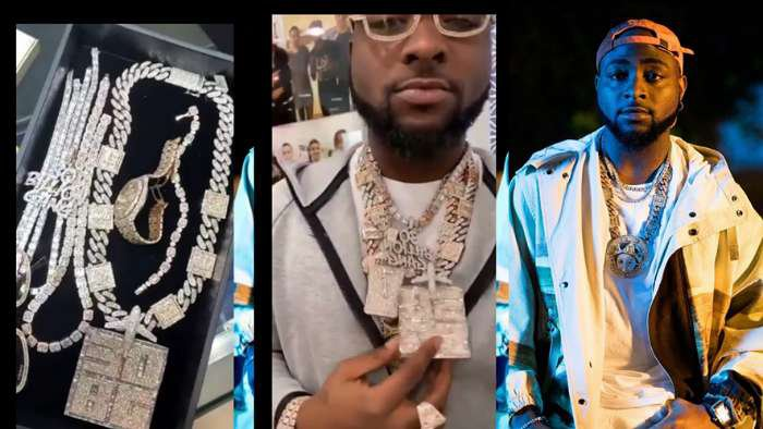 Davido lavishes about N40m on his new customized diamond chains