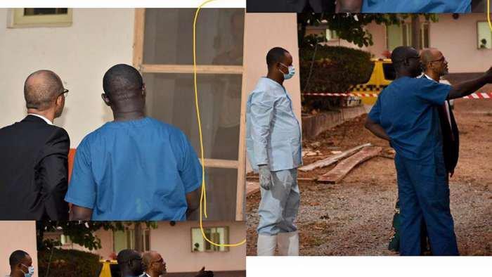 Commissioner of Health, Lagos, Akin Abayomi visits Italian Coronavirus patient