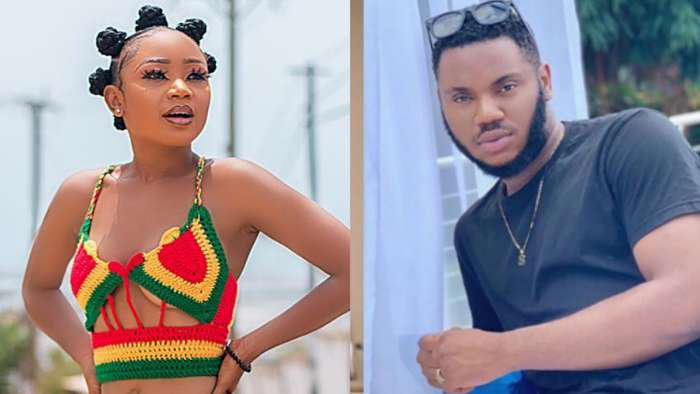 Regina Daniels' ex-boyfriend, Somadina and Ghanaian actress, Akuapem Poloo allegedly dating (see proof)