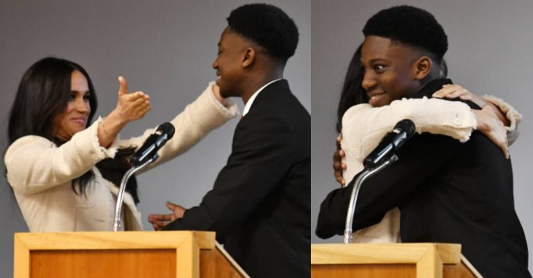 'I hope you didn't mind me cuddling your wife' – Nigerian teen who hugged Meghan Markle writes letter to Prince Harry (photos)
