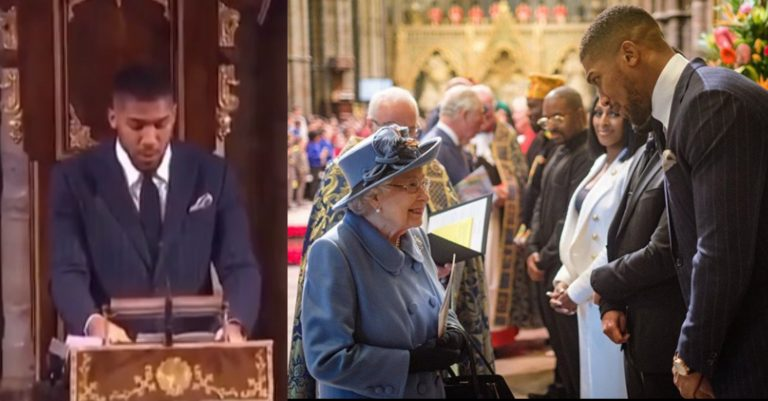 """I'm proudly Nigerian"" – Anthony Joshua says as he addresses the Royal Family"