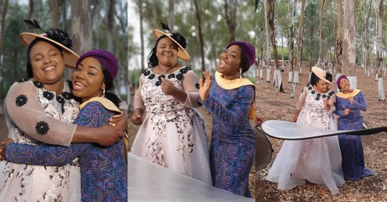 Igbo Gospel Artists Chioma-Jesus, Mercy Chinwo Share Beautiful Photos From Their Music Video Shoot