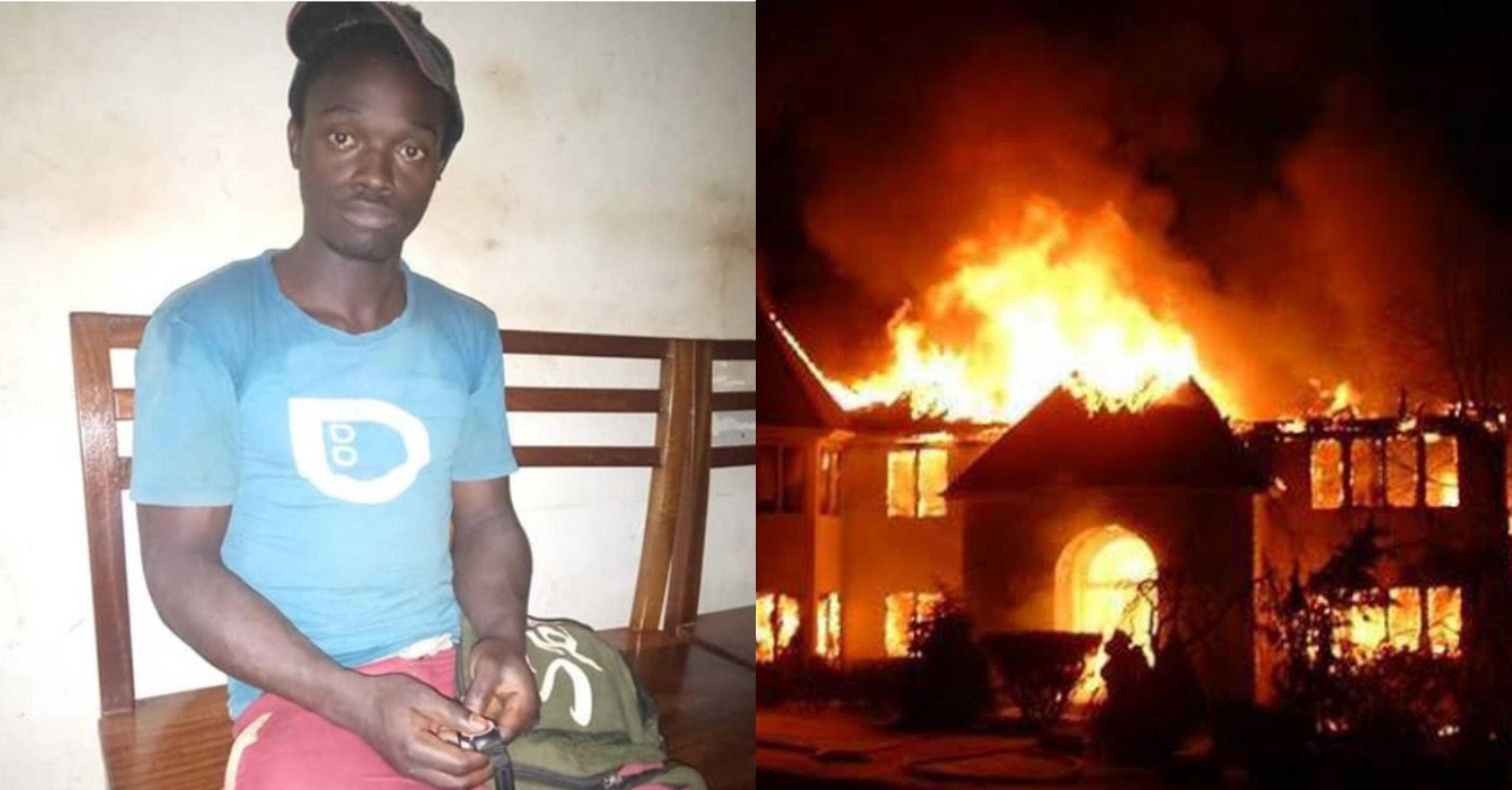 Ugandan Man sets 3 churches ablaze, says they preach prosperity but he's still poor