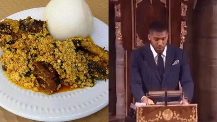 Commonwealth Day: Anthony Joshua advertise pounded yam, Egusi to Queen Elizabeth, Royal family