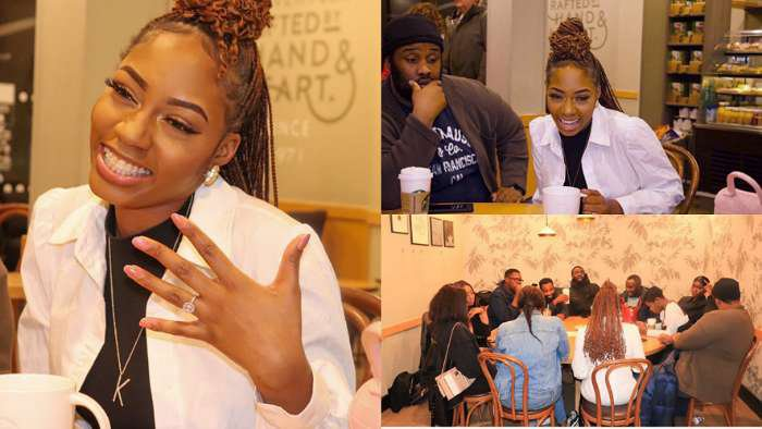 "BBNaija's Khafi shows off her engagement ring during her first ever ""Coffee With Khafi"" event in London"
