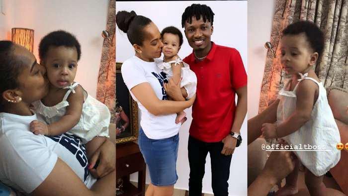 BBNaija 2017 winner, Efe visits TBoss and her child