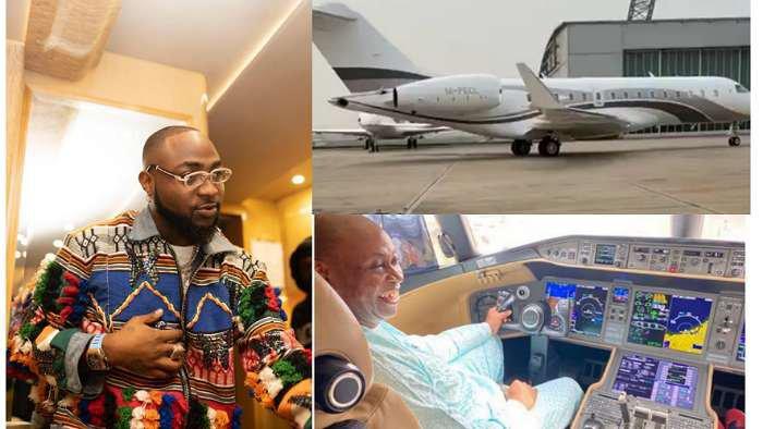 Music star, Davido's new private jet finally lands in Nigeria