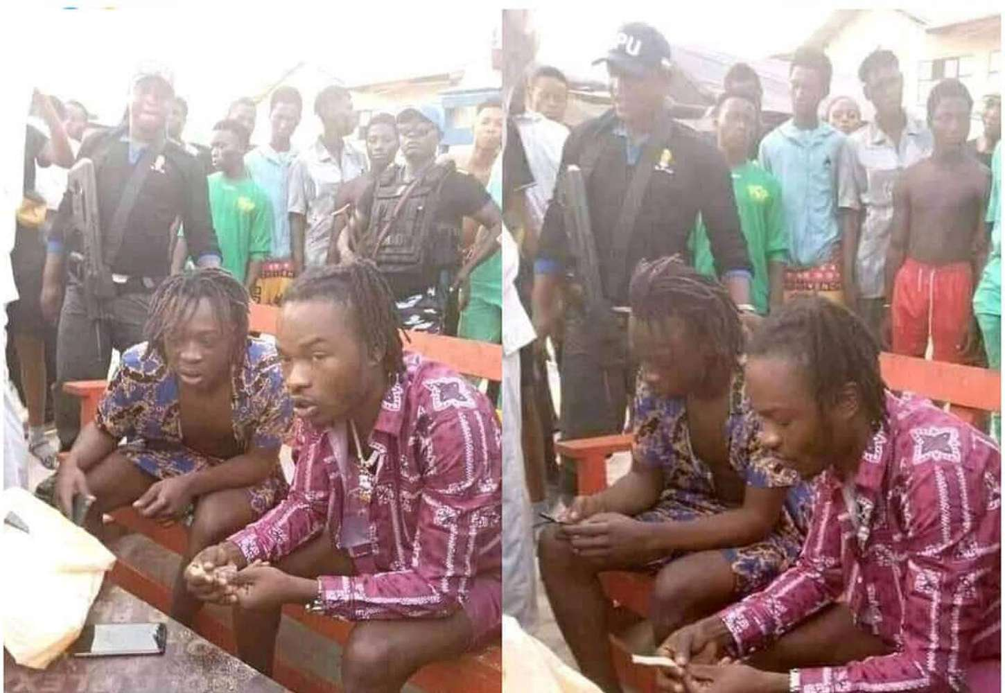 Irate Nigerian calls out Police for safeguarding Naira Marley while he 'puffs ganja'