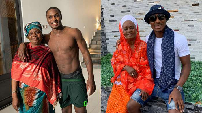 Man United player, Odion Ighalo celebrates mom as she adds another year