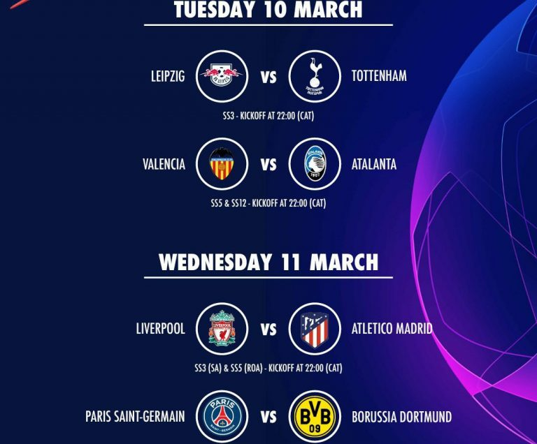 The second leg of UEFA Champions League round of 16 gets underway, Which four teams will advance this week?