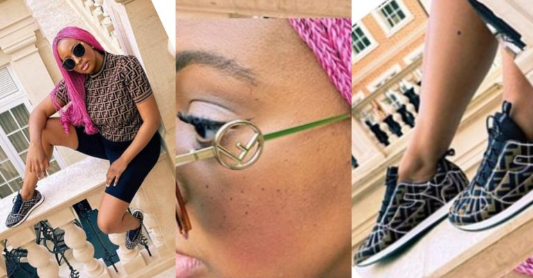 Lockdown: DJ Cuppy laments after she slayed in an all-Fendi designers attire but couldn't go out