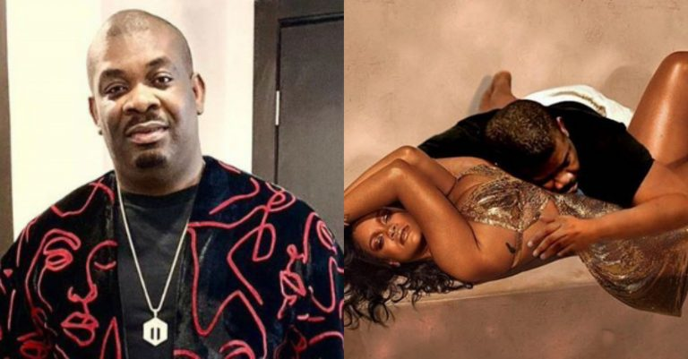 """""""On thy bosom I lay"""" – Don Jazzy says as he finally makes it to bed with Rihanna"""