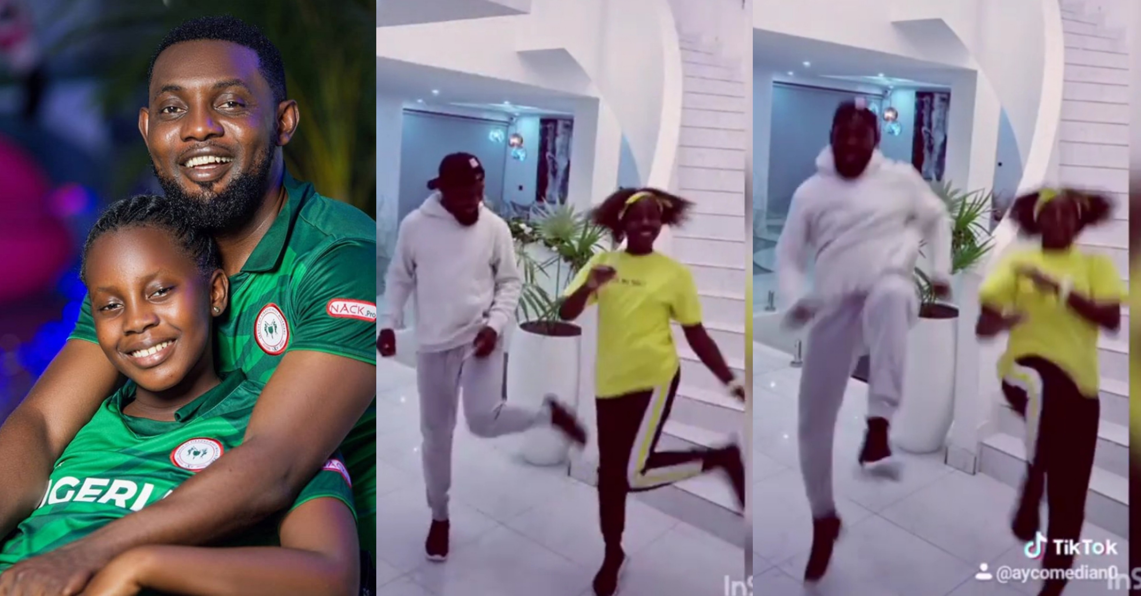 Comedian AY and his Daughter, Michelle show beautiful dance steps in new dance video