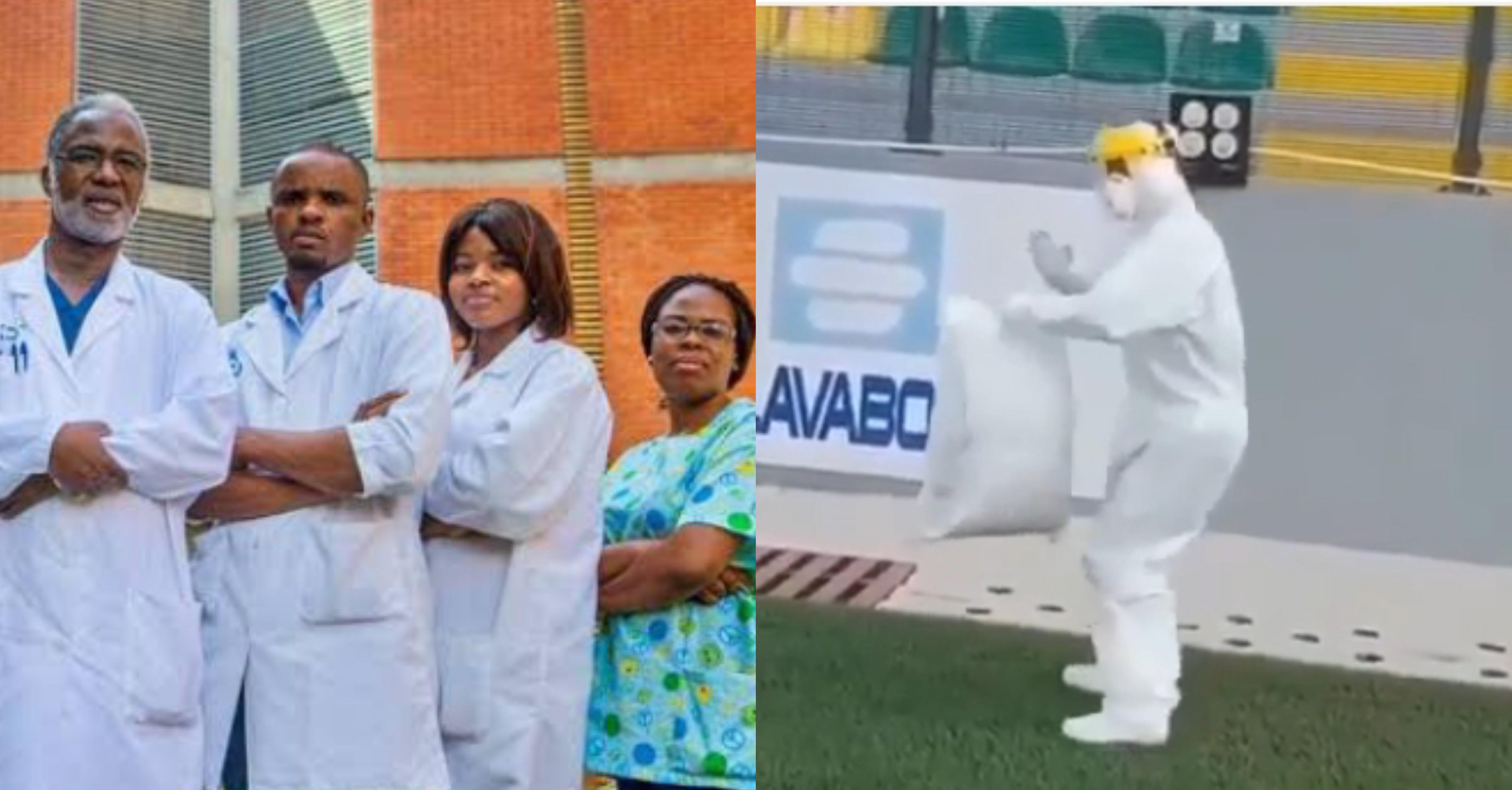 Nigerian Covid-19 doctors caught on camera doing the Zanku dance