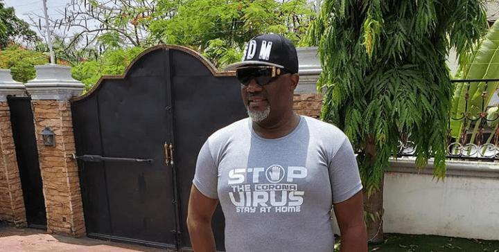 Senator Dino Melaye Rocks Corona Virus Customized Shirt As Advocacy For Stay-At-Home