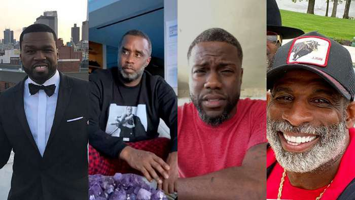 Rapper, 50 Cent mocks Diddy, Kevin Hart, Deion for growing gray hairs on quarantine (screenshot)