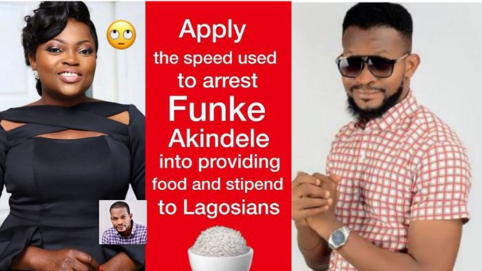 """Apply the speed used to arrest Funke Akindele into providing food and stipends to Lagosians on lockdown"" – Uche Maduagwu tells Gov Sanwoolu"
