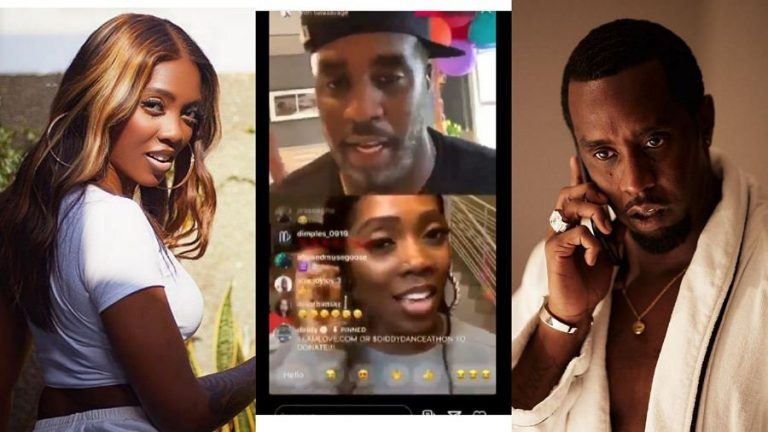 """I'll come to Nigeria soon"" – American music mogul, Diddy tells Tiwa Savage on Instalive"