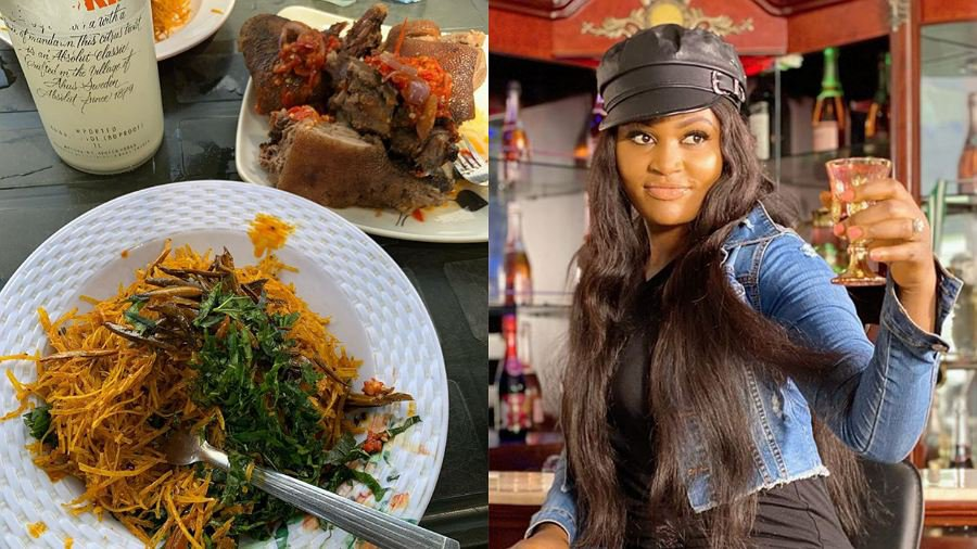 Actress, Chizzy Alichi incites hunger on fans with plate of 'African salad'
