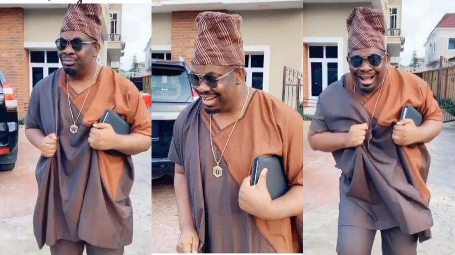 Don Jazzy finally a comedian, watch him mimicking Mr Macaroni in a hilarious video
