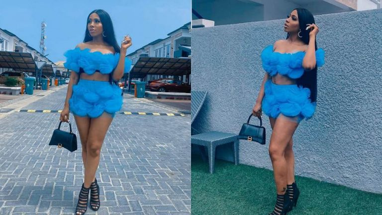 BBNaija Mercy Eke serves it hot while dressed in unique outfit