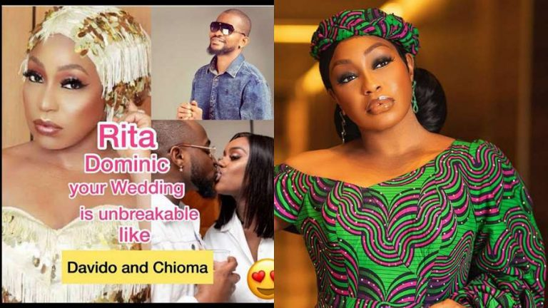 Uche Maduagwu likens actress Rita Dominic's marriage to that of Davido and Chioma