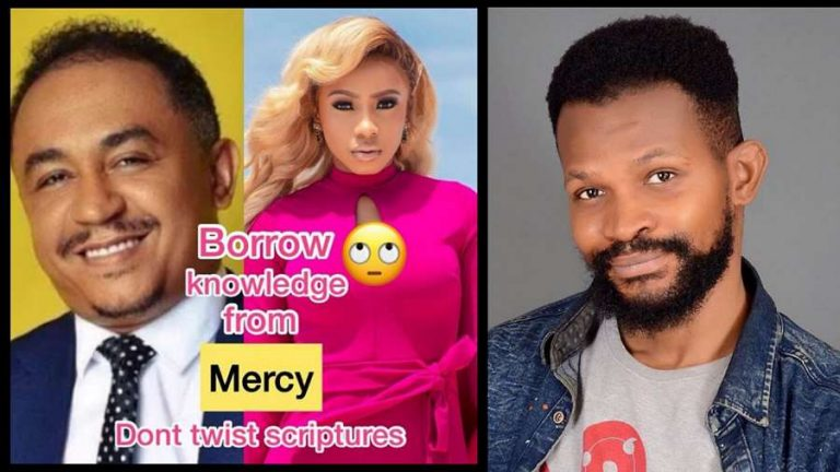 'Borrow knowledge from Mercy Eke to stop twisting scriptures' – Uche advises Daddy Freeze