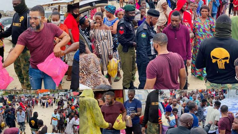 Actor Williams Uchemba feeds 1000 underprivileged in Lagos