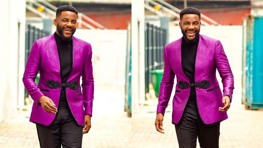 BBNaija host Ebuka asks about colour of his jacket: 'Purple or Magenta?'