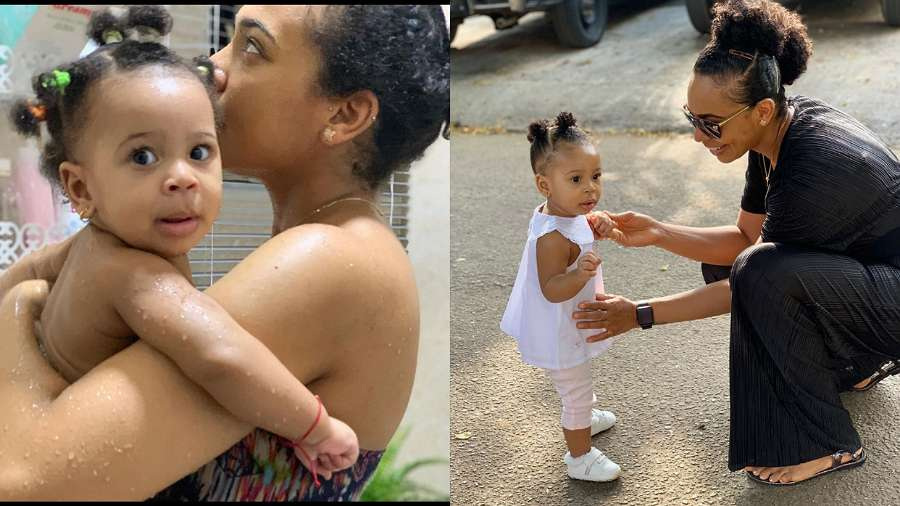 BBNaija 2017 star, TBoss shares favourite bonding moment with daughter