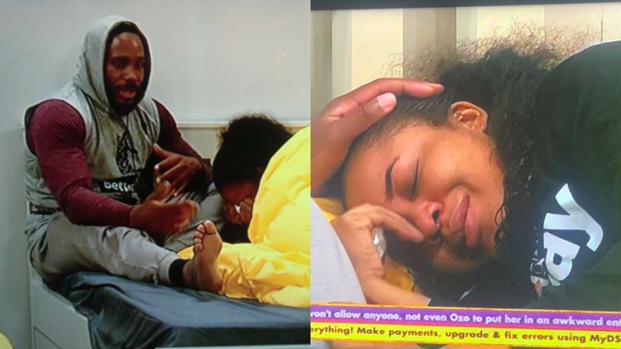 BBNaija2020: 'I'm here for you' – Kiddwaya assures Erica while she cries
