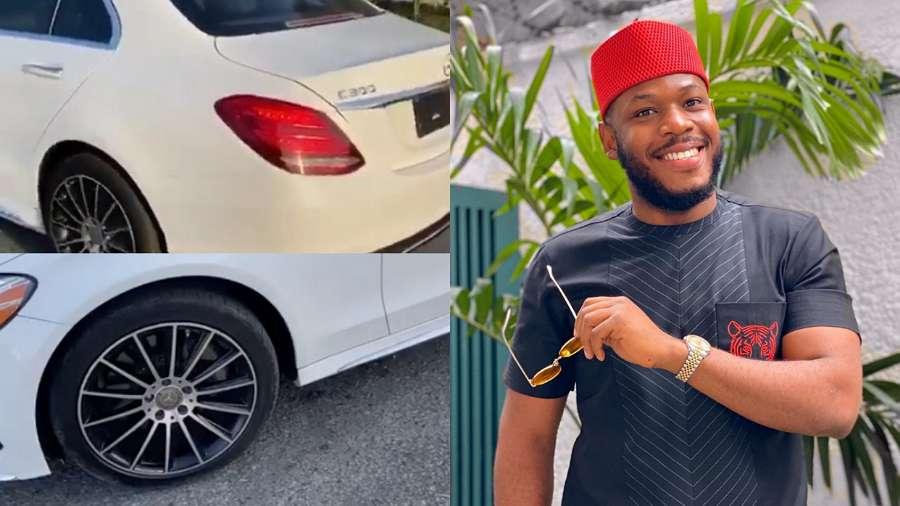 BBNaija: Frodd acquires new whip, a Benz