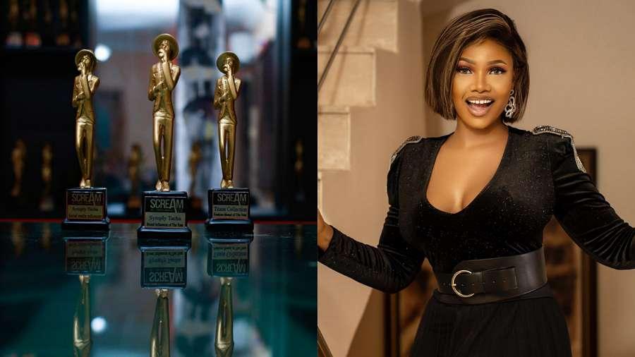 BBNaija's Tacha takes home three plaques in Scream Awards 2020